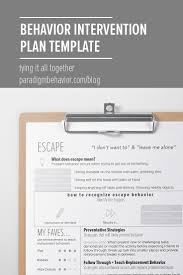 behavior intervention plan template behavior intervention plans tying it all together paradigm