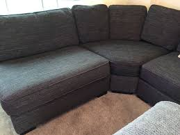 Furniture village Eleanor curved corner sofa settee Black/Charcoal  Excellent condition