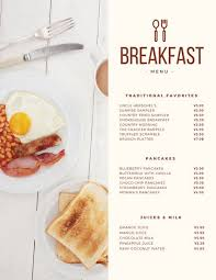 Breakfast Menu Template Adorable Customize 48 Breakfast Menu Templates Online Canva