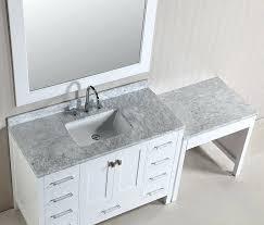 makeup vanity sink combination bathroom vanity with makeup vanity attached choice of sink and makeup area