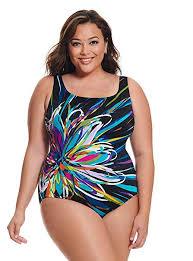Longitude Swimwear Size Chart Longitude Womens Plus Size Swimwear Floral Mayhem Panel Scoopneck Tank Tummy Control Long Torso One Piece Swimsuit