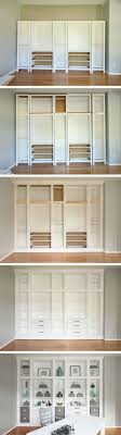 DIY Built-in Bookcases made with Ikea Hemnes Furniture, Custom Built-in  Storage