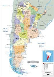 Argentina Map (Political) - Worldometer