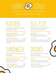 breakfast menu template breakfast menu templates canva
