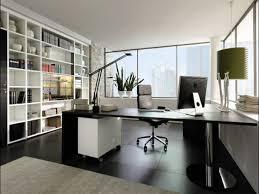 office bonsai. Interior, Feminine Executive Office Furniture Light Brown Wood Floor Tile Green Table Lamp Grey Fabric Bonsai
