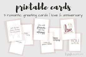 Free Printable Anniversary Cards For Her Cool Printable Romantic Greeting Cards Everyday Love Anniversary Cards