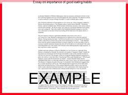 essay on importance of good eating habits custom paper service essay on importance of good eating habits good behavior essay in english languages gcse essay