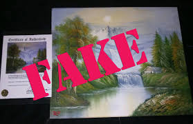 bob ross official on twitter warning the er of this painting claims it s a bob ross original it is not send inquiries about ross paintings to
