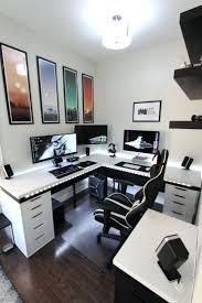 gallery home office desk. Marvelous Battle Station Gaming Office Minimalist Setup Design Gallery Home Desk