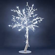 Floral Lights - Lighted Crystal Tree with 96 LED Lights, 384 Crystals, ...