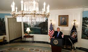 donald trump will decide by may 12 whether to withdraw from or pull out of or abandon or s or jettison the synonyms keep coming the