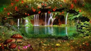 cool outdoor backgrounds. Lovely Outdoor Green Magical Flower Colors Color Beautiful View Nature Mushroom Plant Water Waterfall Forest Hd Cool Backgrounds C