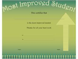 Most Improved Student Certificate Template Download