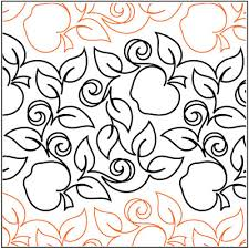 Apple Pattern Gorgeous Apple Orchard Quilting Pantograph Pattern By Patricia Ritter Of