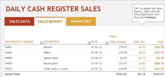 Ms Excel Daily Sales Report Template Formal Word Templates