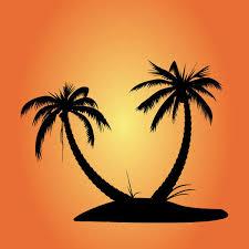 600x600 free vector palm tree silhouettes palm tree silhouette tree