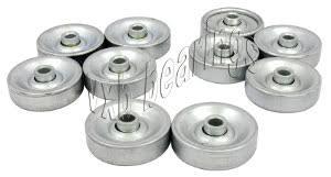 roller ball bearing. conveyor skate roller ball bearing, bearing inner diameter is 8mm, outer 50mm and width 23.5mm, extended race wheel