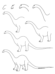 how to draw a dinosaur step by step learn how to draw a diplodocus with simple step by step instructions art journal learning drawings