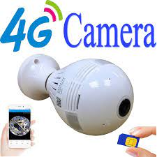 Diske V380 3G 4G Kamera Licht VR Ip kamera Wifi Wireless IP Kamera Sim  karte Wifi Panorama 360 Grad VR Kamera|Surveillance Cameras