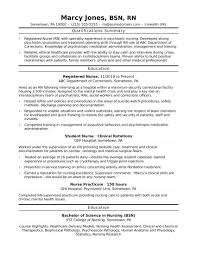 Cover Letter Entry Level Resume Examples Nursing Of Resumes Template