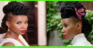 Coiffure De Mariage Chic Updo Pour Cheveux Crépus