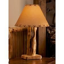 aspen log table lamp rustic table lamps46
