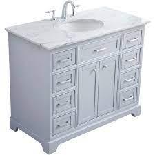42 In Single Bathroom Vanity Set In Light Grey Walmart Com Walmart Com