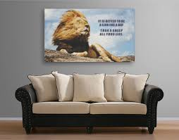 home office wall art. Courageous Inspirational Quote Canvas Art \ Home Office Wall