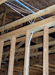 building a home low voltage and other home wiring these photos trace the wires up the wall