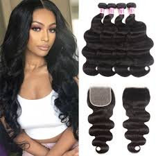 Hair Length Chart Bundles Unice Hair Icenu Series Body Wave Transparent Closure And Bundles 4 Pcs Body Wave With 5 5 Inch Transparent Closure