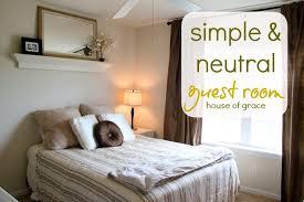 simple guest bedroom. Neutral \u0026 Simple Guest Room Bedroom I