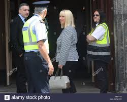 Ann Doyle arrives for the funeral of Father Ted star Brendan Grace at the  Church of St. Nicholas of Myra, Dublin Stock Photo - Alamy