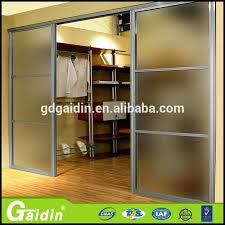 self closing sliding door china supplier aluminum extruded frame decorative self closing sliding door aluminum sliding
