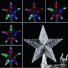 large lighted tree topper new large tree topper star lights led lamp multi color decoration 0