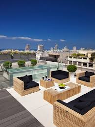 Roof deck furniture Cool Roof Sleek Patio Contemporary Design Rooftop Terrace Outdoor Patios Nyc Condo Pinterest Rooftop Terrace Backyard Project Pinterest Roof Terrace Design