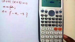 quadratic equation solution on scientific calculator in hindi