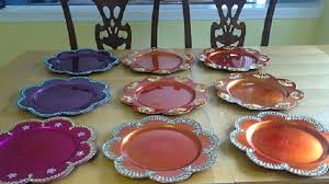 Decorative Platters And Trays Colorful Decorative Plates Raji Creations 2