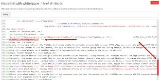 Has A Link With Whitespace In Href Attribute Sitebulb