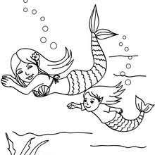 Small Picture Beautiful mermaid coloring pages Hellokidscom
