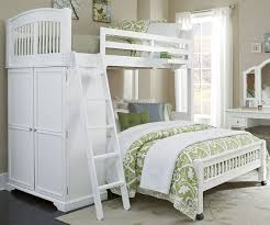 White Twin Over Full Loft Bunk Bed Creative \u2014 Town of Indian Furniture