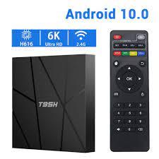 Satın Al T95H Akıllı TV Kutusu Android 10.0 Android TV Kutusu H616 Quadcore  2.4g WiFi 4 GB 64 GB 6 K Set Üst Kutusu VS T95, TL305.39