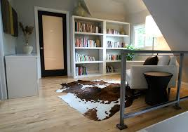 cow rugs ikea with white plants family room contemporary and neutral colors