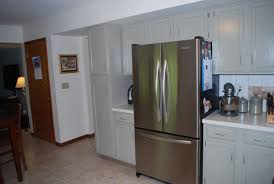 refrigerator that looks like a cabinet. Perfect That Refrigerator That Looks Like A Cabinet Those Are The Same Cabinets In Both  Just Painted And With Different Hardware Doors Look  For