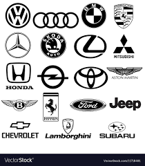 lamborghini logo black and white. Contemporary And Black White Car Logos Vector Image And Lamborghini Logo White F