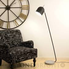 Concrete Floor Lamp Black Base And Wood