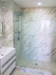 bath glass screen fixed splash guard