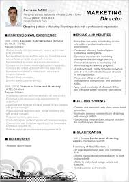Sales And Marketing Resume Samples Marketing Resume Templates Job Will Catch Attention Of Your Future 63