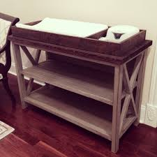 Baby changing dresser Ikea Rustic Changing Table Finished Rogue Engineer Free Baby Changing Table Woodworking Plans