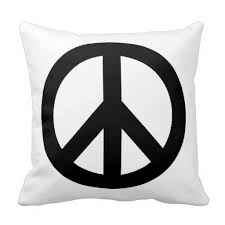 Peace Sign Decorative Pillows