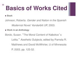 Work Cited Works Cited For A Book Kadil Carpentersdaughter Co